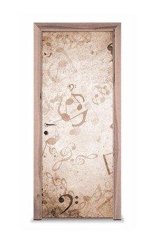 Naklejka na drzwi - Nuty 7325