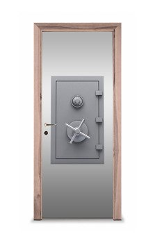 Naklejka na drzwi - Sejf 7615